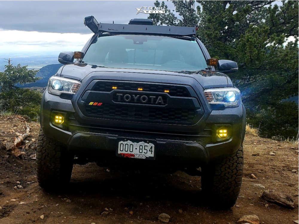 2 2018 Tacoma Toyota Icon Suspension Lift 25in Method Grid Matte Black