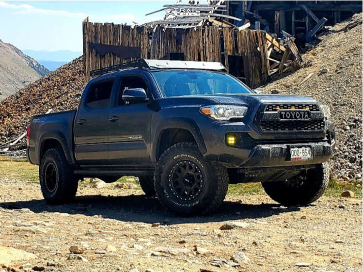 9 2018 Tacoma Toyota Icon Suspension Lift 25in Method Grid Matte Black
