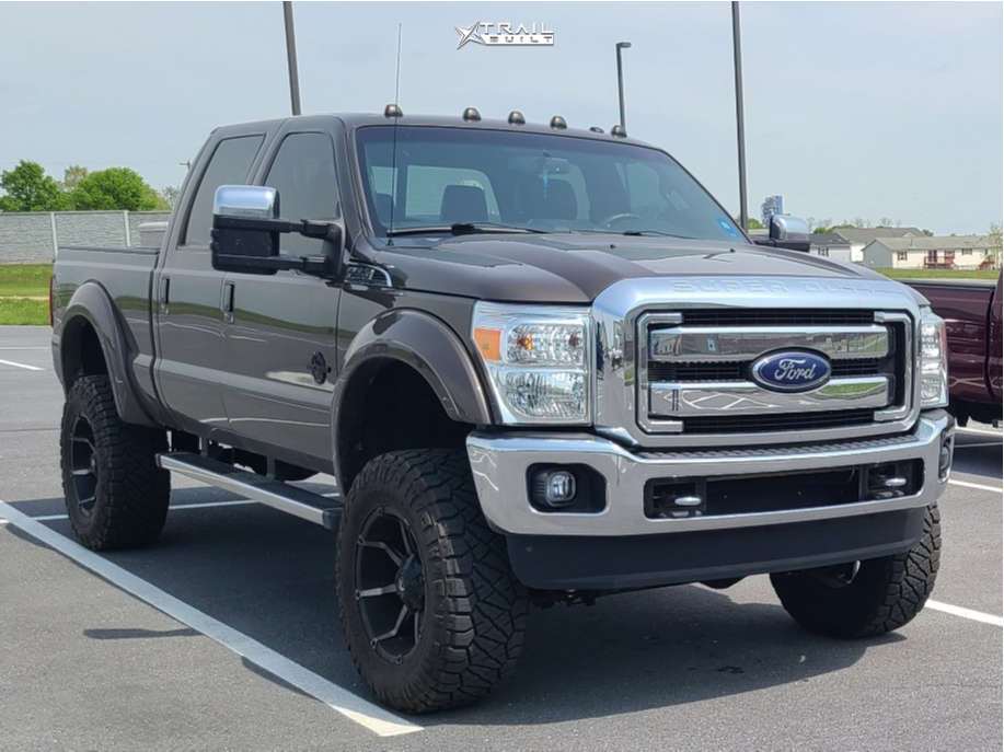 2 2016 F 350 Super Duty Ford Unknown Suspension Lift 45in Fuel Coupler Black