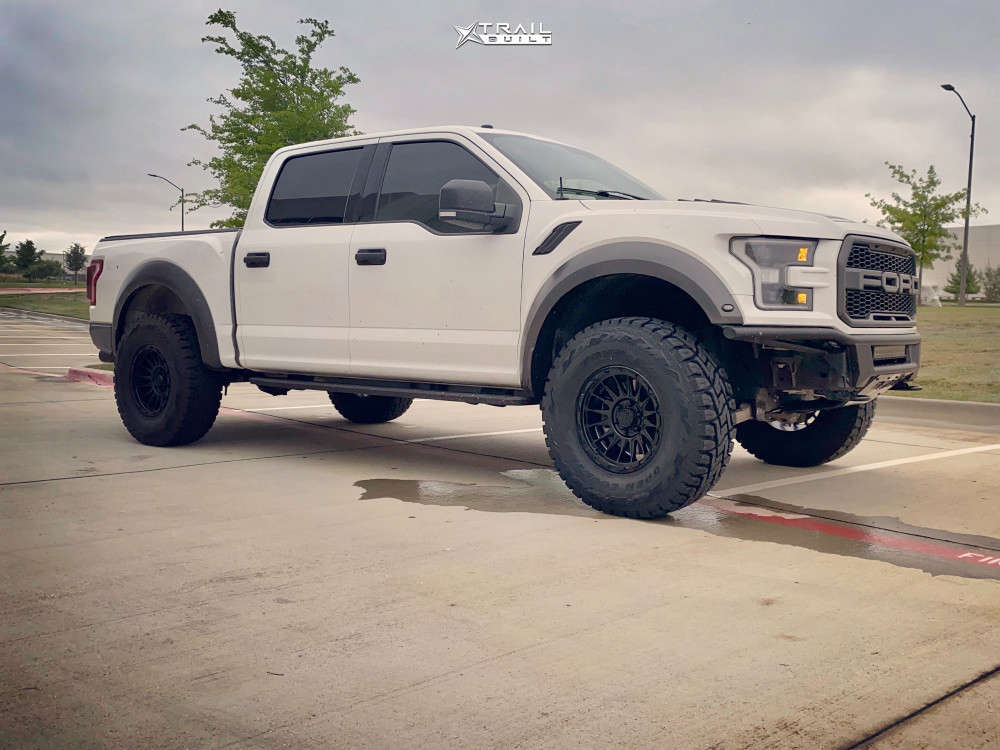 3 2018 F 150 Ford Readylift Suspension Lift 3in Kmc Km542 Matte Black