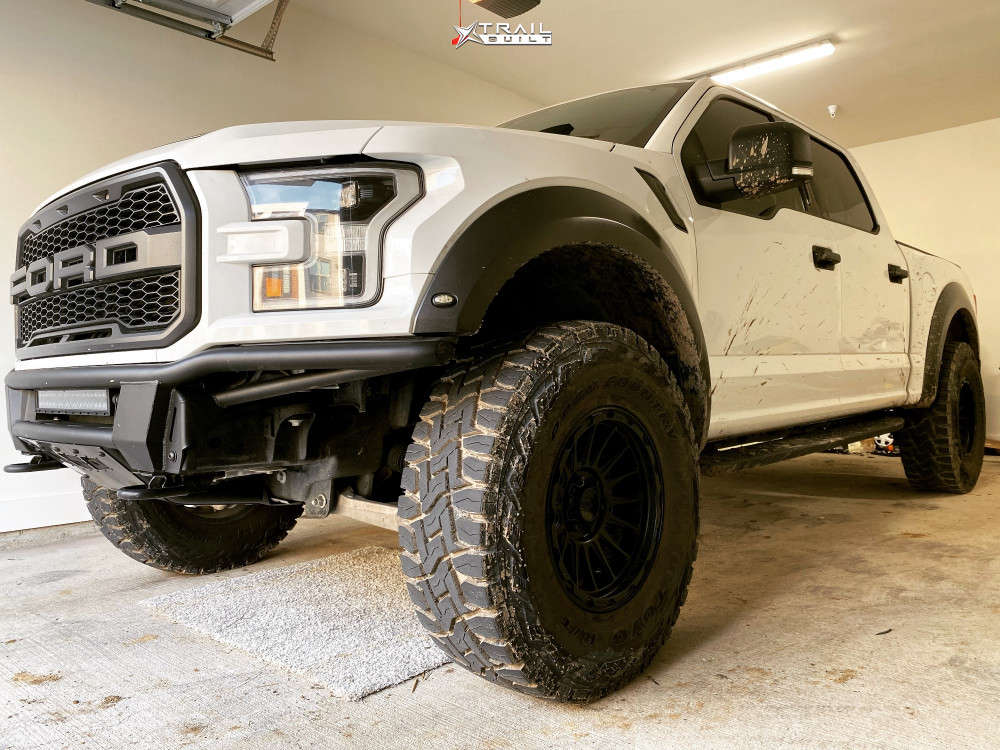 8 2018 F 150 Ford Readylift Suspension Lift 3in Kmc Km542 Matte Black