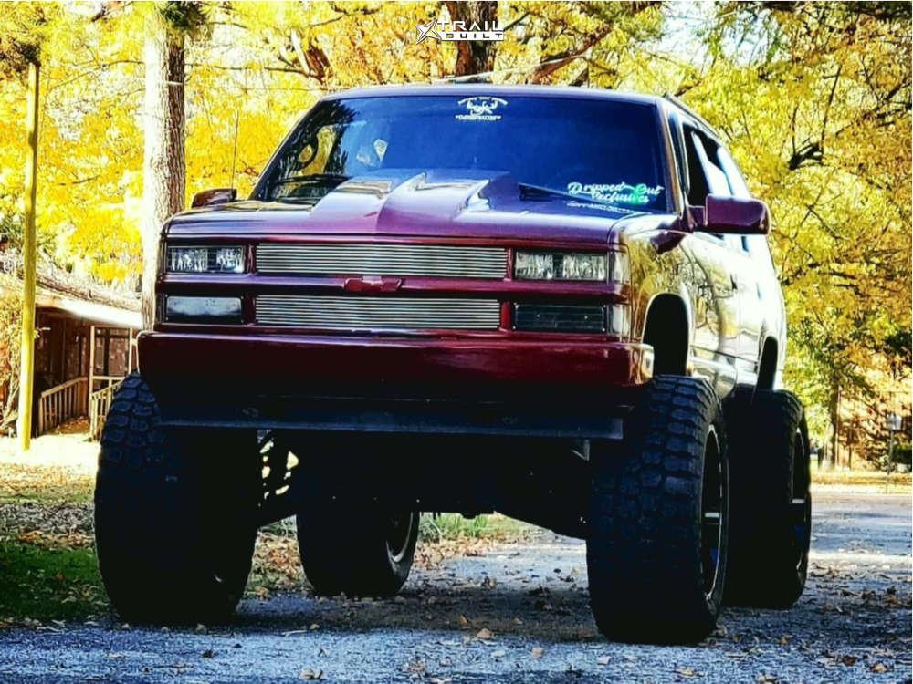 1 1999 Tahoe Chevrolet Rough Country Suspension Lift 6in Body 3in Tis 544bm Black