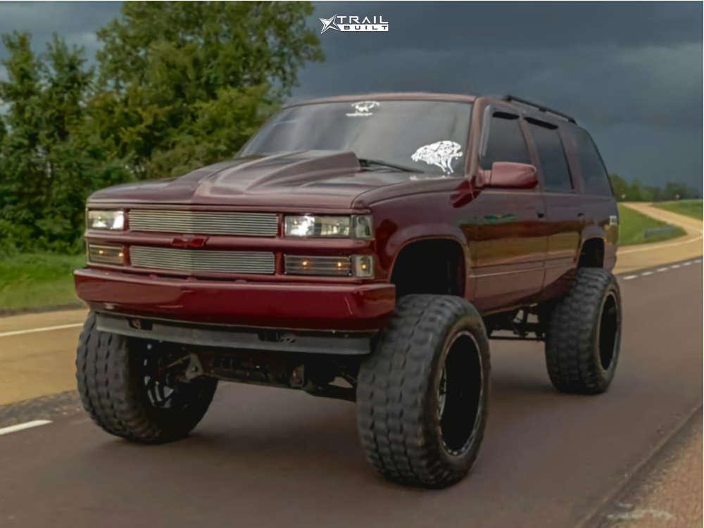 15 1999 Tahoe Chevrolet Rough Country Suspension Lift 6in Body 3in Tis 544bm Black