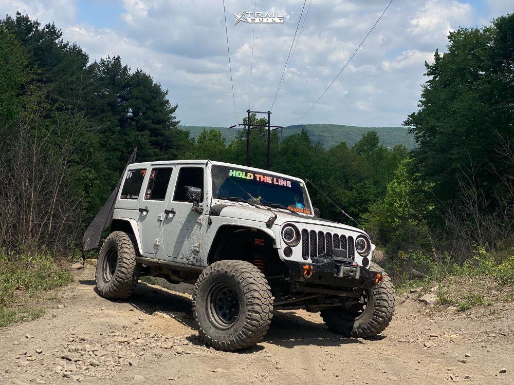 1 2014 Wrangler Jeep Unlimited Sahara Suspension Lift 4in Trail Master Tm5 Black