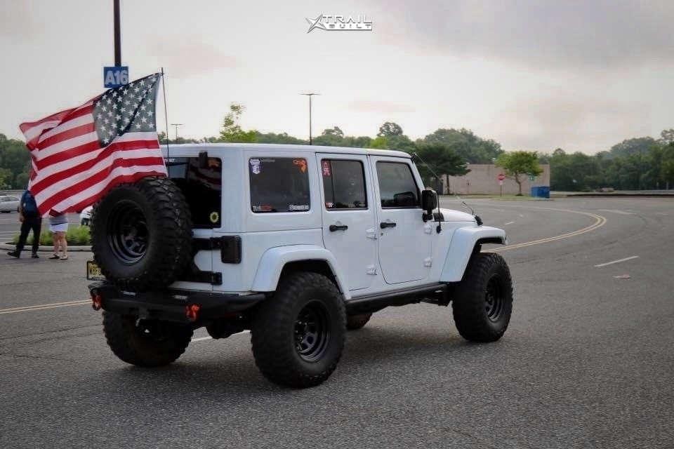 4 2014 Wrangler Jeep Unlimited Sahara Suspension Lift 4in Trail Master Tm5 Black
