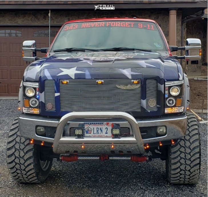 2 2008 F 250 Super Duty Ford Rough Country Suspension Lift 10in Xd Diesel Chrome