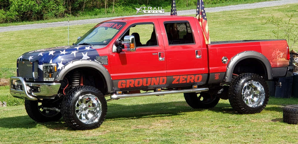 5 2008 F 250 Super Duty Ford Rough Country Suspension Lift 10in Xd Diesel Chrome