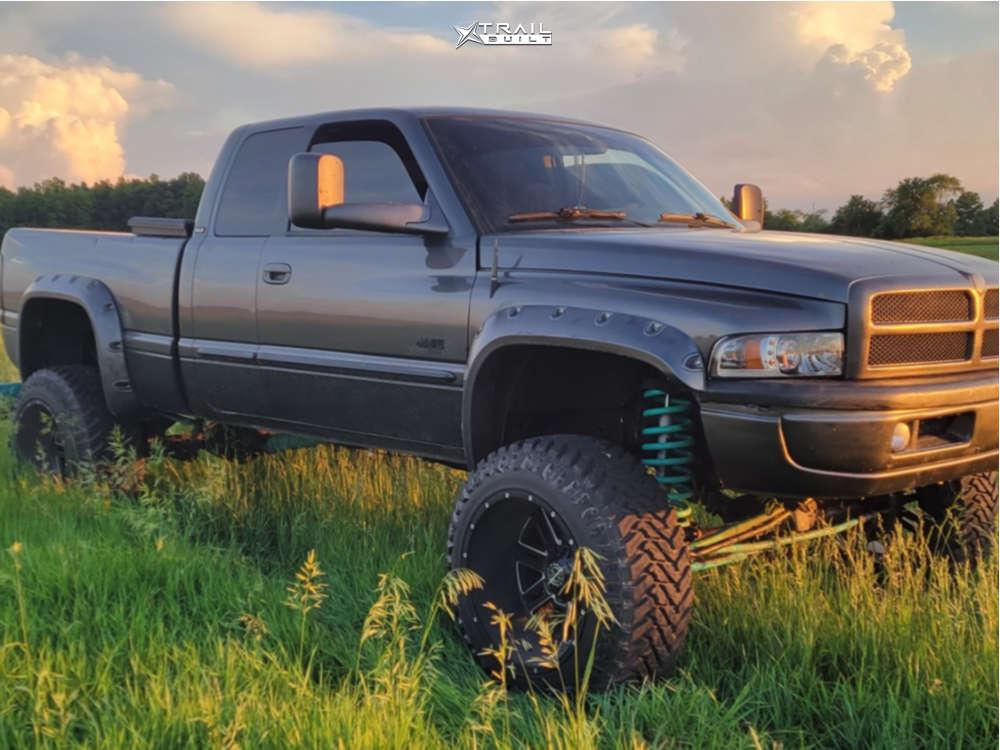 1 2002 Ram 2500 Dodge Rough Country Suspension Lift 5in Scorpion Sc18 Black