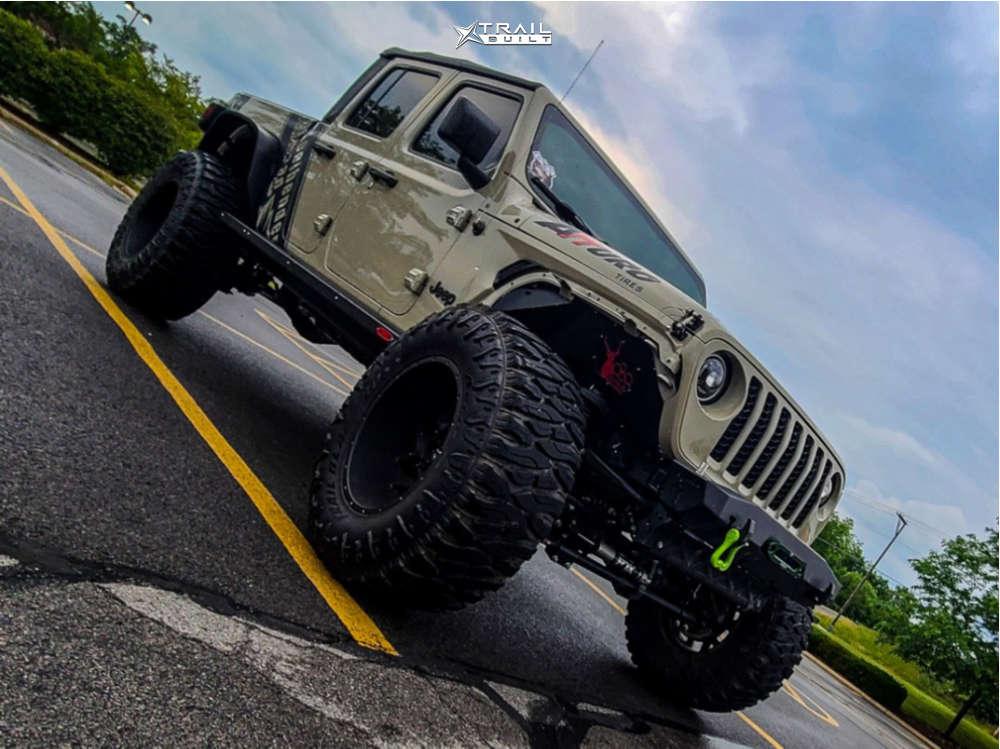 1 2020 Gladiator Jeep Sport Skyjacker Suspension Lift 65in Vision Sliver 360 Matte Black