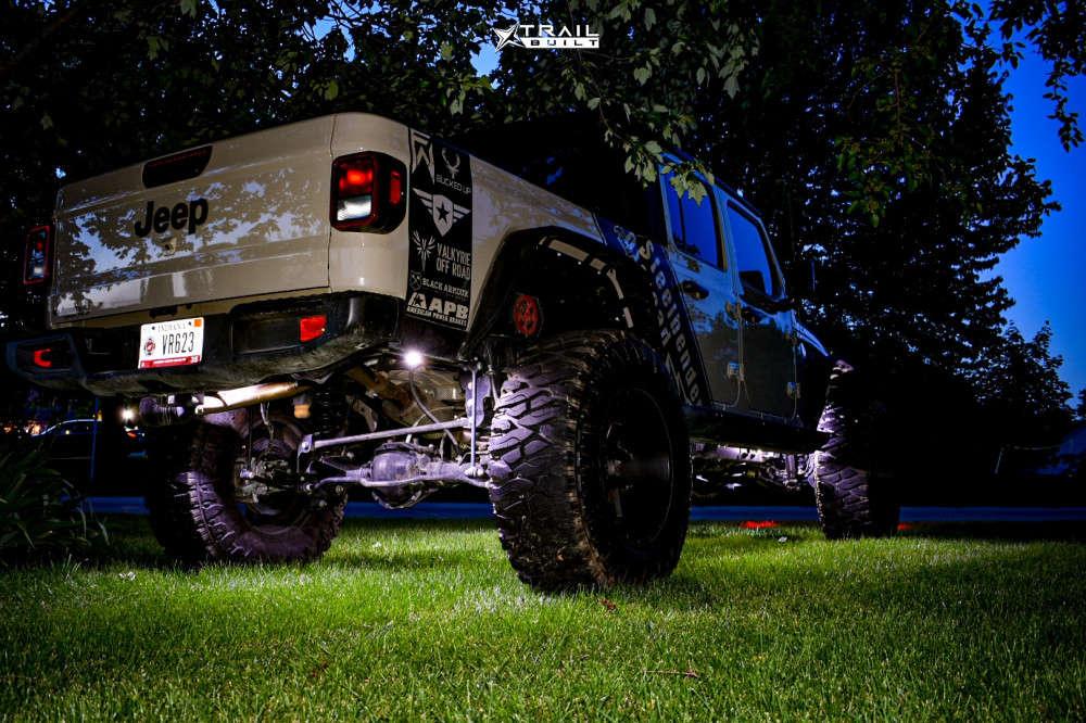 13 2020 Gladiator Jeep Sport Skyjacker Suspension Lift 65in Vision Sliver 360 Matte Black