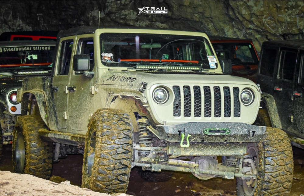 2 2020 Gladiator Jeep Sport Skyjacker Suspension Lift 65in Vision Sliver 360 Matte Black