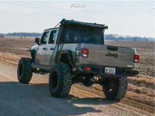 3 2020 Gladiator Jeep Sport Skyjacker Suspension Lift 65in Vision Sliver 360 Matte Black
