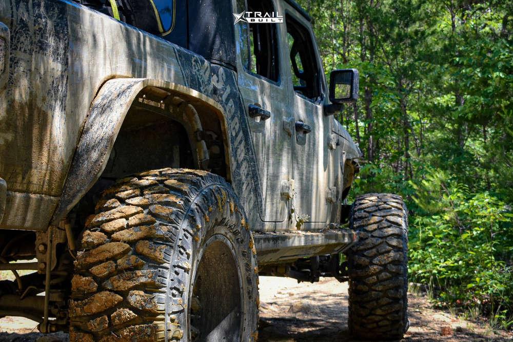 4 2020 Gladiator Jeep Sport Skyjacker Suspension Lift 65in Vision Sliver 360 Matte Black