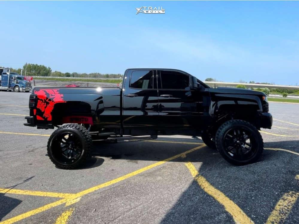 14 2017 Silverado 1500 Chevrolet Rough Country Suspension Lift 75in Body 3in Fuel Sledge Black