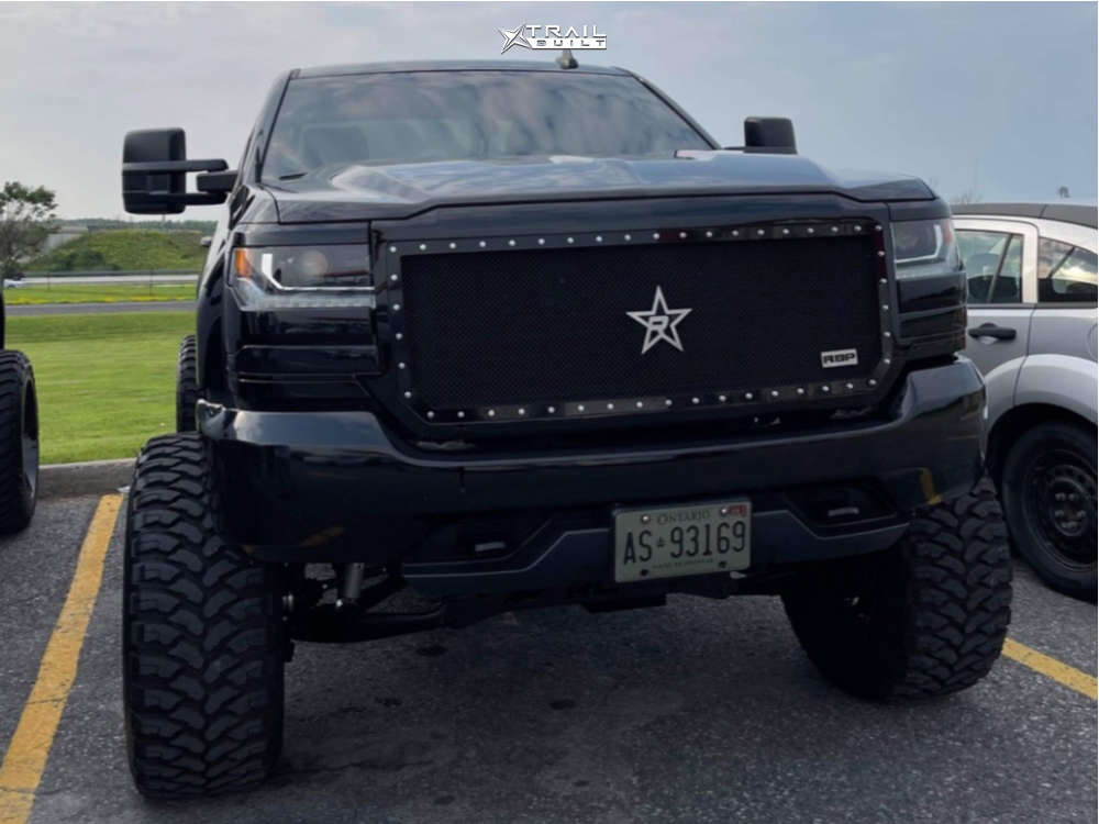 2 2017 Silverado 1500 Chevrolet Rough Country Suspension Lift 75in Body 3in Fuel Sledge Black
