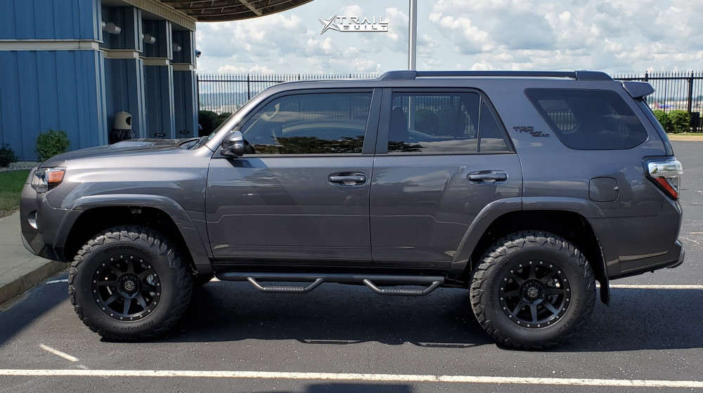 12 2021 4runner Toyota 3 Inch Level Stock Icon Alloys Rebound Black
