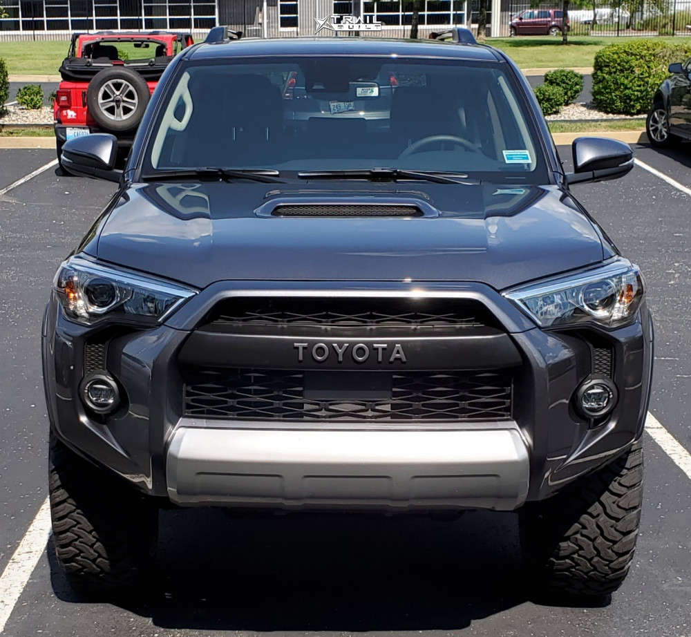 2 2021 4runner Toyota 3 Inch Level Stock Icon Alloys Rebound Black