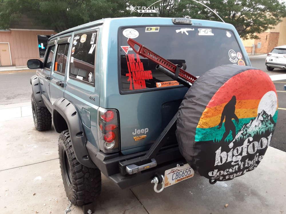 4 1997 Cherokee Jeep Sport Suspension Lift 55in Black Rock D Widow Black