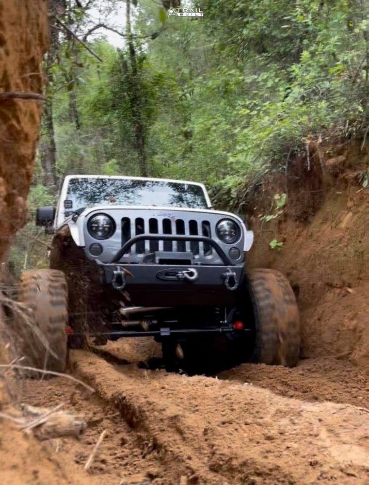 2 2010 Wrangler Jeep Unlimited Rubicon Rock Krawler Suspension Lift 4in Fuel Anza Anthracite