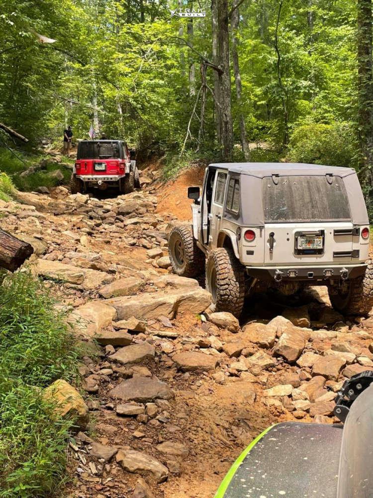3 2010 Wrangler Jeep Unlimited Rubicon Rock Krawler Suspension Lift 4in Fuel Anza Anthracite