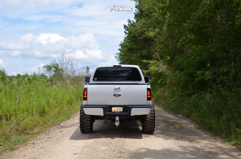 3 2007 F 250 Super Duty Ford Rough Country Suspension Lift 6in American Force Sprint Cc Polished