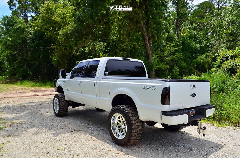 4 2007 F 250 Super Duty Ford Rough Country Suspension Lift 6in American Force Sprint Cc Polished