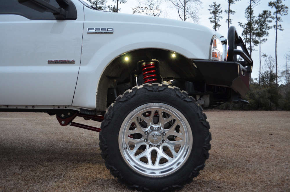 5 2007 F 250 Super Duty Ford Rough Country Suspension Lift 6in American Force Sprint Cc Polished