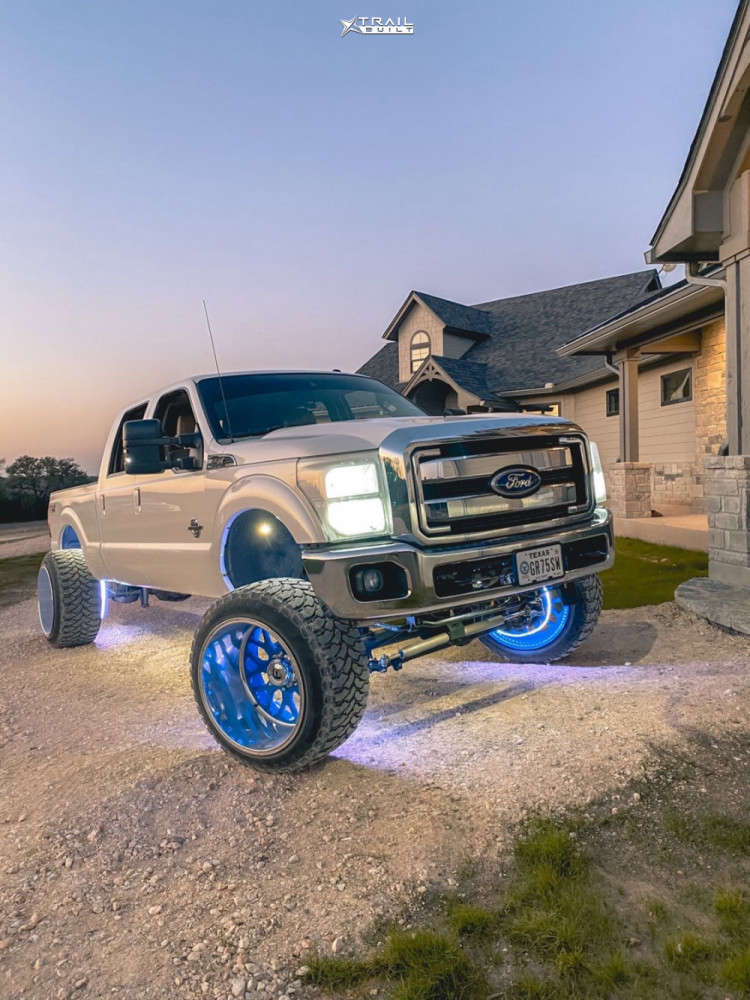 2 2011 F 250 Super Duty Ford Pmf Suspension Lift 6in Fuel Forged Ff29 Custom