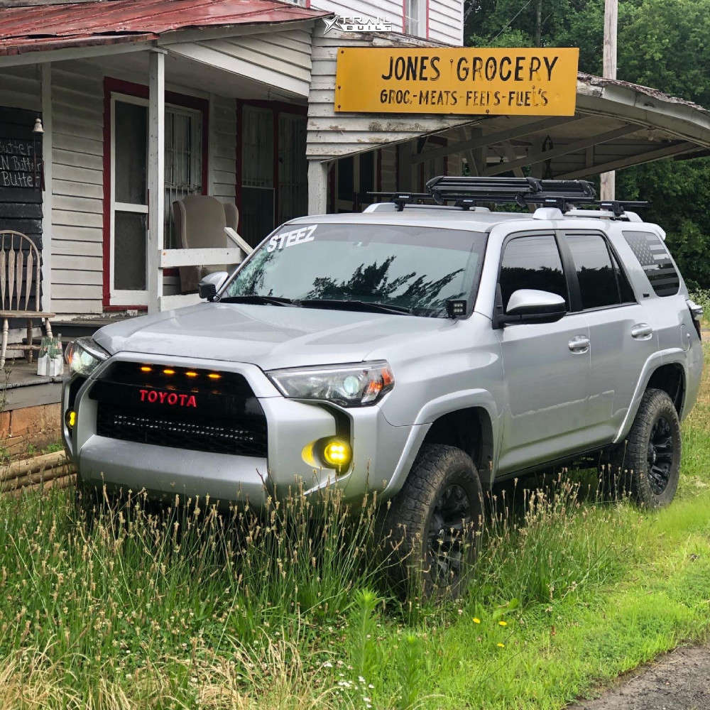 3 2017 4runner Toyota Rough Country Suspension Lift 3in Fuel Vapor Black