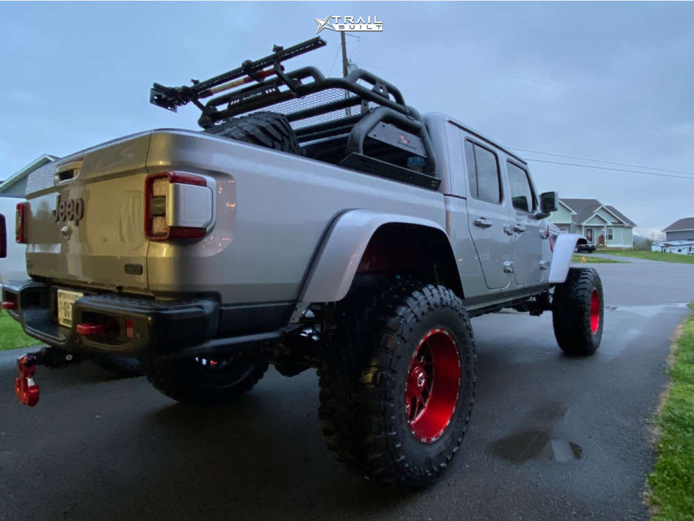 4 2020 Gladiator Jeep Launch Edition King Spring Super Low Suspension Lift 65in Tis 544rm Red