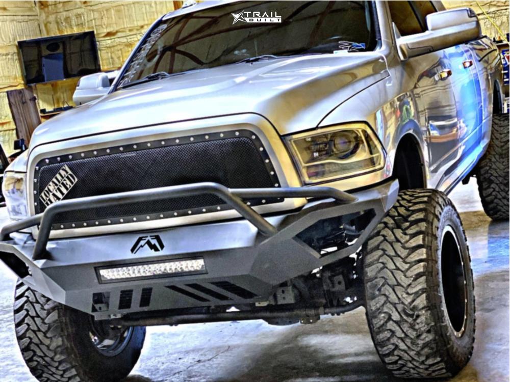 2 2014 2500 Ram Skyjacker Suspension Lift 65in Fuel Maverick D610 Machined Accents