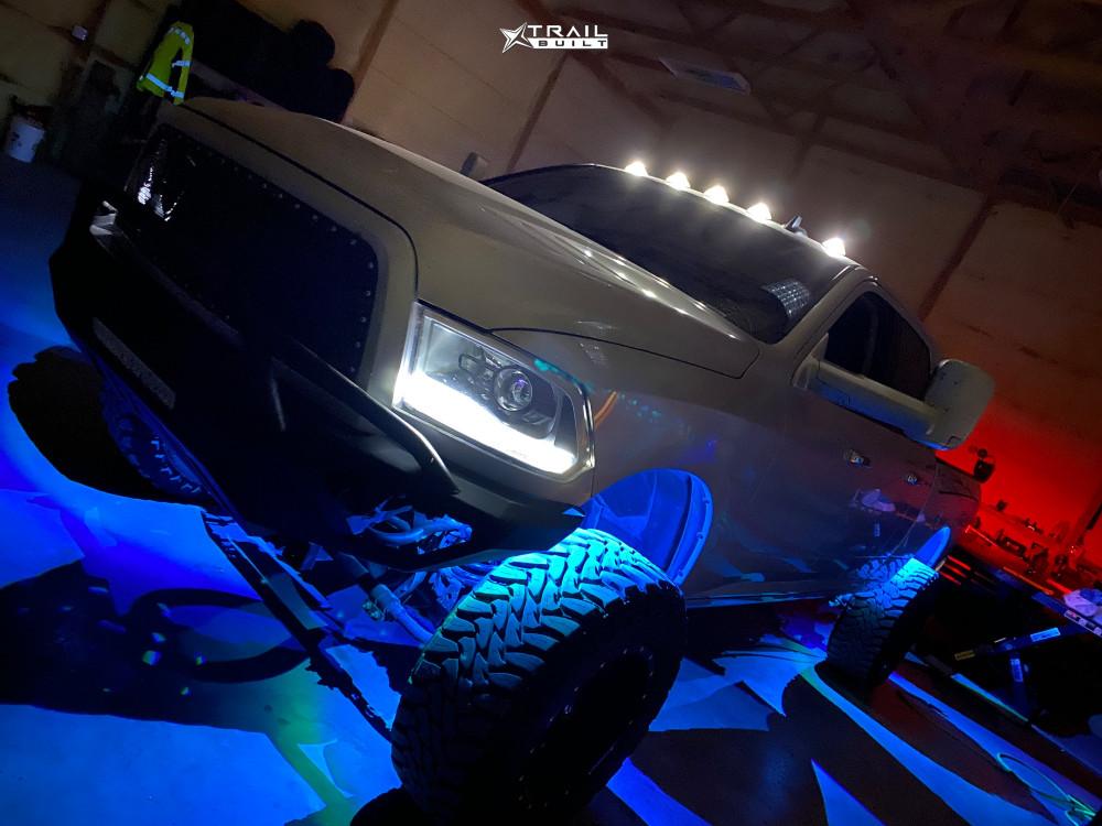7 2014 2500 Ram Skyjacker Suspension Lift 65in Fuel Maverick D610 Machined Accents