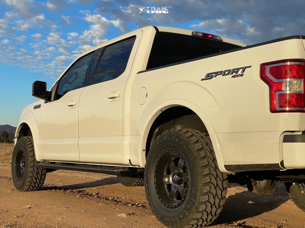 14 2019 F 150 Ford Motofab Leveling Kit Fuel Podium Gunmetal