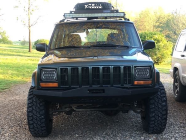 2 1997 Cherokee Jeep Country Rough Country Suspension Lift 3in Ultra Vagabond Black