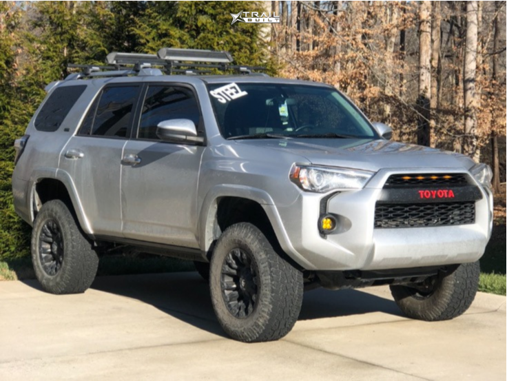 1 2017 4runner Toyota Rough Country Suspension Lift 3in Fuel Vapor Black