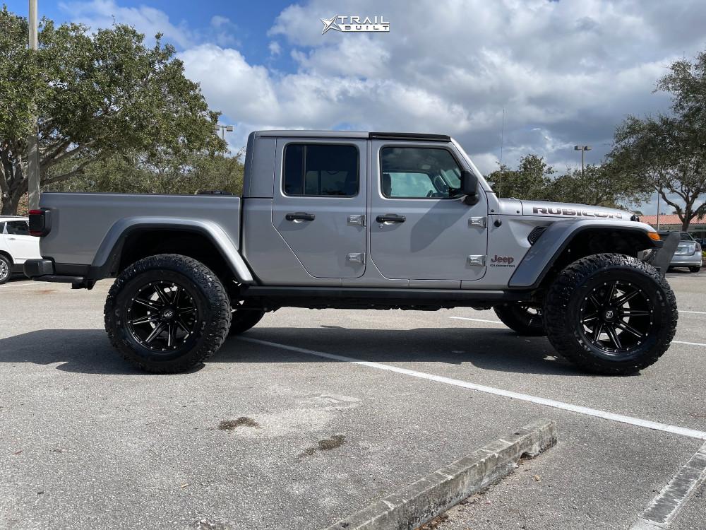 12 2020 Gladiator Jeep Rubicon Rock Krawler Suspension Lift 3in Xf Offroad Xf 220 Black
