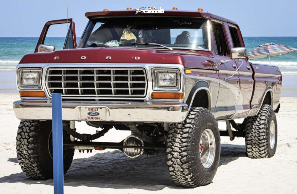 14 1978 F 250 Ford Custom Suspension Lift 6in Eagle Alloy Series 058 Polished