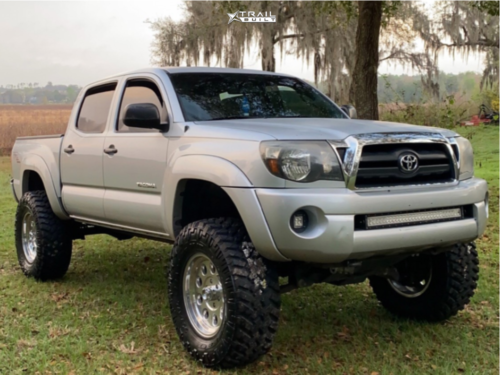 1 2007 Tacoma Toyota Rough Country Suspension Lift 6in Level 8 Hauler Polished