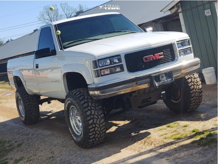1 1998 K3500 Gmc Rough Country Suspension Lift 6in Ultra 164 Polished