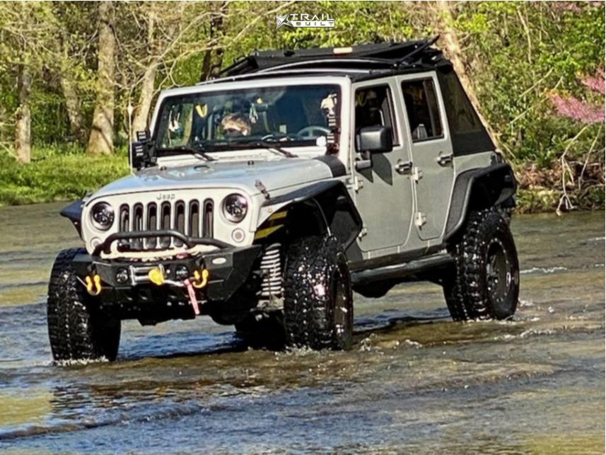 12 2007 Wrangler Jk Jeep Base Superlift Suspension Lift 25in Pro Comp 31 Matte Black